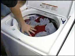 Full Load of Laundry in the Washer