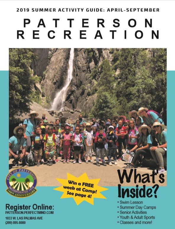 2019 Summer Activity Guide Cover