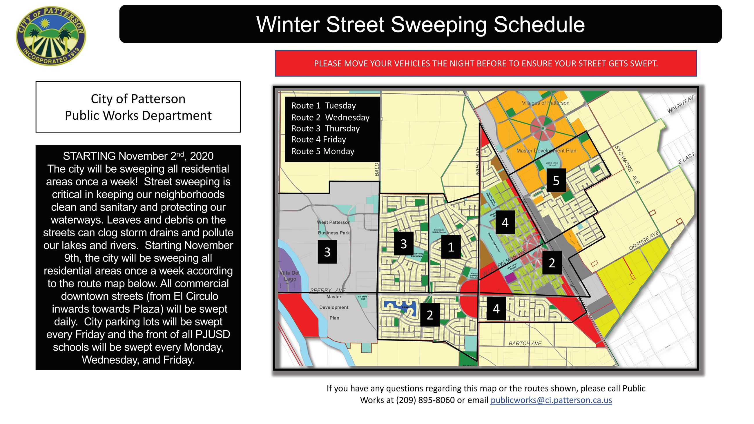 Winter Street Sweeping Route 2020_